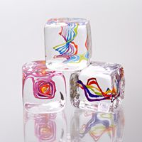 Set of three paperweights by Nicholas Kekic - click for details