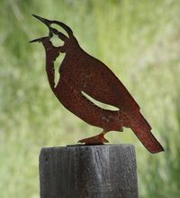 Life size metal Meadowlark - click for details